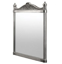 Georgian Framed Polished Aluminium Mirror