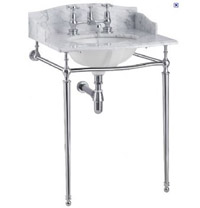 Sarah Marble Basin With Chrome Washstand