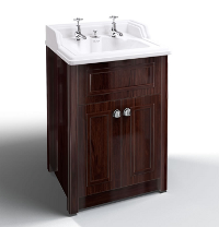 Classic Basin with Invisible Overflow & Waste with Mahogany Vanity Unit