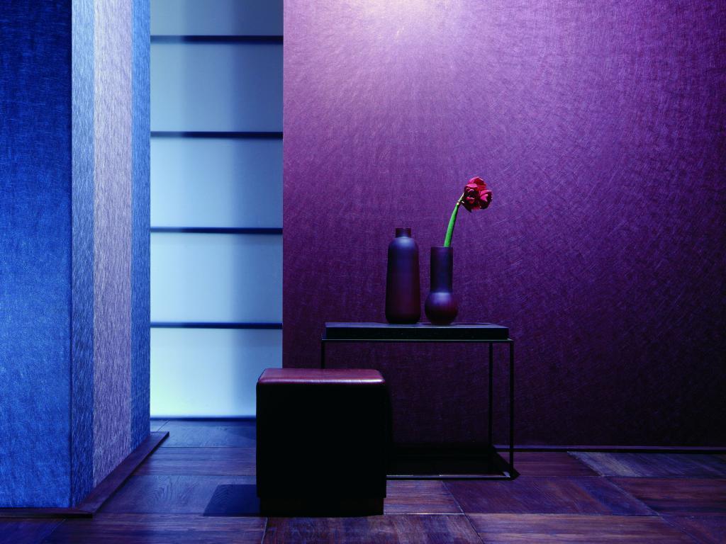 Wandfarbe violett kombinieren